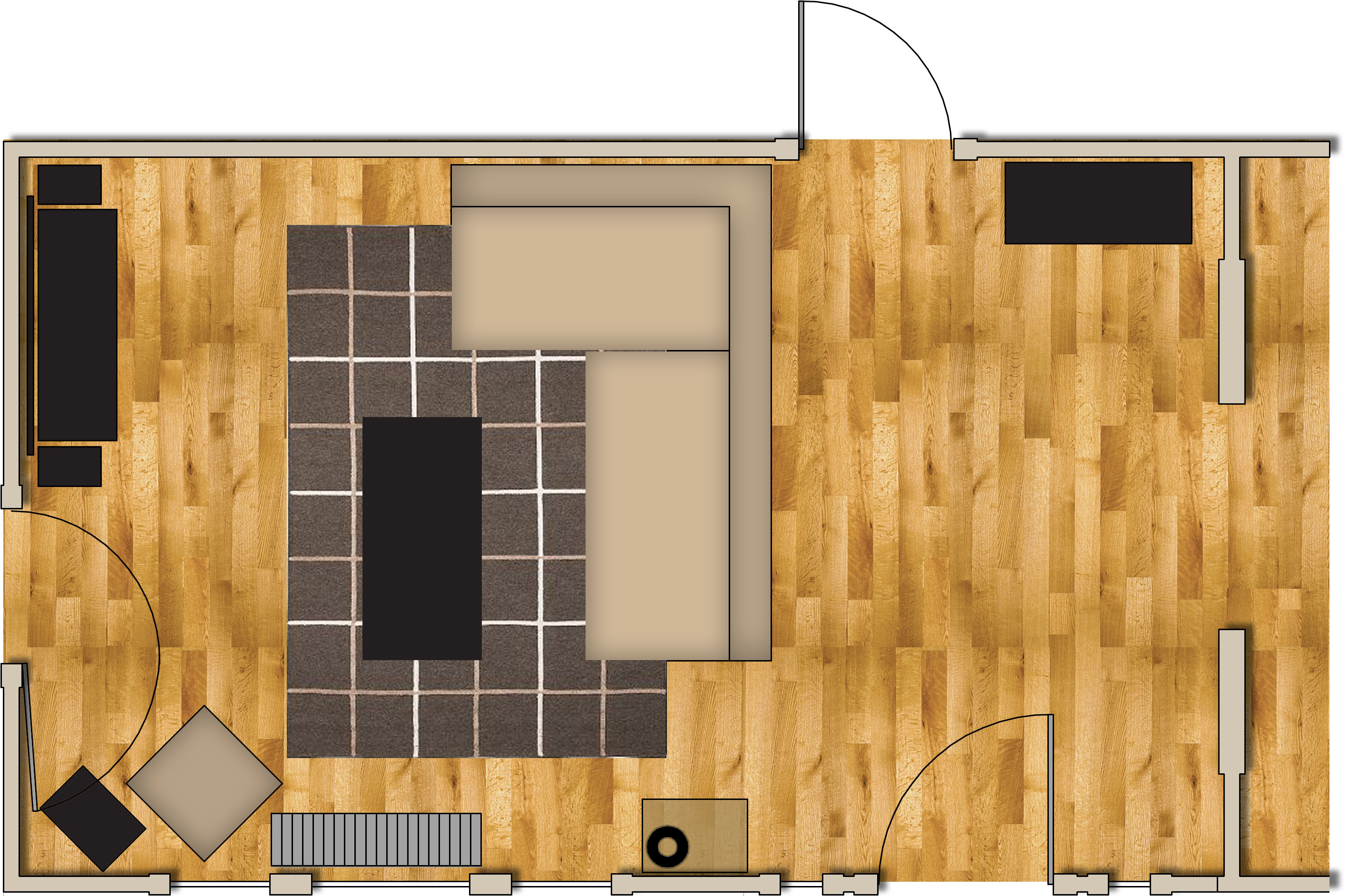 Living Room Layout From This To